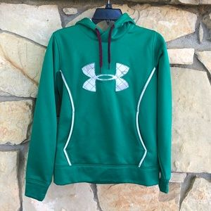 Under Armour Green Semi Fitted Hoodie